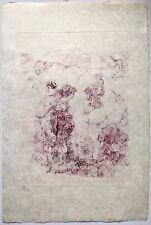 Rare Hans Bellmer Etching Paysage 1900 Surreal Women Surrealism Signed Ltd 33/50