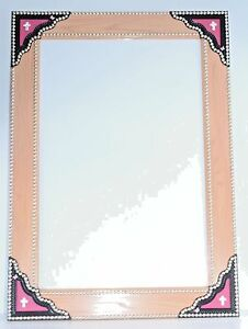 Dry Erase Board Whiteboard Fancy Leather Studs Pink Butterfly Bling Handmade OOK