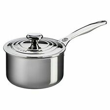 Le Creuset Tri-ply Stainless Steel Saucepan With Lid 2qt