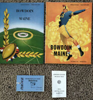 Vintage Bowdoin College Lot Sports Football Pass,2 Programs,Pocket Schedule WOW!