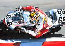 Nicky Hayden American Honda Motorcycle Motorbike Racing Art Painting Print