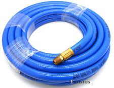 "50FT x 3/8"" PVC Air Hose PVC Compressor Flexible Hose 300 PSI 1/4"" NPT"