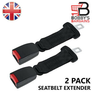 2X 30-70CM UNIVERSAL SAFETY ADJUSTABLE SEATBELT EXTENSION BUCKLE STRAP HARNESSES