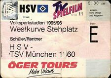 Ticket BL 95/96 Hamburger SV - TSV 1860 München, Westkurve Stehplatz