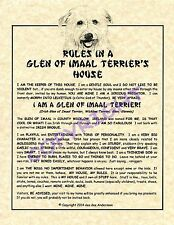 Rules In A Glen of Imaal Terrier's House