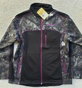 L Womans Black Antler Digital Camo Black with Purple Jacket NWT $119