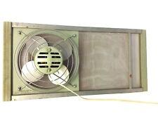 Vintage Used Green Metal Wood Sides Marvin model 239W Electric Window Fan