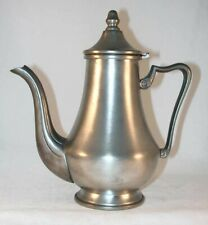 Vintage Pear Shaped Teapot EL Pewter Italy Hinged Lid with Acorn Shaped Finial
