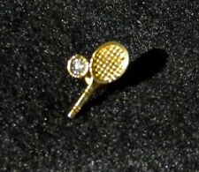 Monet Gold Tone Tennis Racket Pin