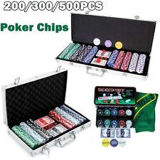 More details for 200/300/500 pcs laser chips texas hold em cards dice decks casino game poker set
