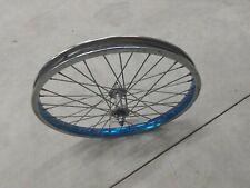 Old School BMX 80s ano blue CMC front rim mongoose hutch redline diamond back