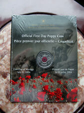 Canada 2004 - Poppy Quarter - First Day Strike - Mint Sealed