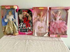 NUTCRACKER, SUGAR PLUM FAIRY,GOLDEN WALTZ, NIGHT DAZZLE Barbie's nib (Lot B57)