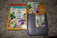 Flintstones: The Rescue of Dino & Hoppy (Nintendo NES, 1991) Complete GOOD H