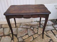 Petite table bureau Louis XV en chêne massif Epoque 1950