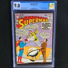 Superman #157 💥 CGC 9.0 💥 Supergirl & Legion App & 1st Quex-UI! DC Comics 1962
