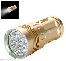 Skyray 8x Cree Led XM-L2 T6 Flashlight / Torch - 6400 Lumen: 4x 18650 Battery