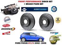 para Ford Focus St170 2.0 2002-2004 DELANTERO Rendimiento Discos de freno set +