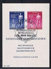 DDR o MiNr Block 11 ESST Befreiung vom Faschismus Gedenkstätten Buchenwald ua