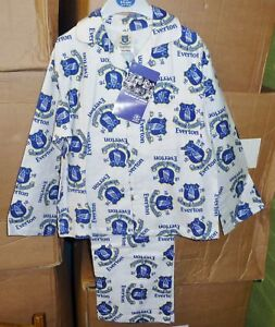 BRAND NEW BOYS OFFICIAL EVERTON F.C BRUSHED COTTON PYJAMAS AGE 5-6 to 9-10 YEARS