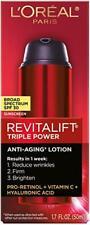 L'Oreal Paris Revitalift Triple Power Anti-Aging Lotion, SPF 30, 1.7 oz