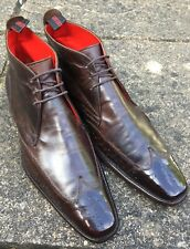 JEFFERY WEST (DASHWOOD) BROWN BROGUE BOOTS SIZE 8(uk). EXCELLENT CONDITION