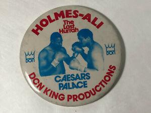 """Holmes-Ali Boxing Pin """"The Last Hurrah"""" Don King Productions Caesars Palace 1980"""