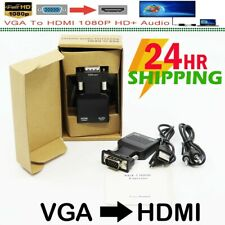 VGA to HDMI Adapter with Audio Male VGA to Female HDMI Converter Laptop to TV