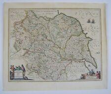 Yorkshire: antique map by Jan Jansson, 1646
