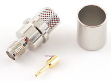 SMA Female Crimp Connector LMR-400 2-pcs - USA Coax Parts