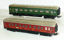2x Märklin alte Personenwagen: 346/1 Schürzenwagen, 346/3 DSG Schlafwagen Blech
