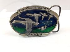 Vintage 1983 Bergamot Brass Works Belt Buckle D-146 Canada Goose Canadian Geese