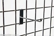 "100 x 10"" Single Prong Gridwall 254mm Long Mesh Display Panel Shopfitting Hook"