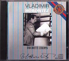 Vladimir Horowitz: favorite Chopin I Etude Prelude Scherzo Polonaise CBS CD