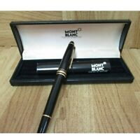 Montblanc fountain pen Nib/EF Black Slightly Used Excellent 14.8cm w/Box