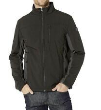 TUMI Stretch Softshell Jacket with Faux Fur Lining Black/Iron F97221 Size S