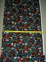 Dog Words I Love My Dog Black C5710 Timeless Durable Cotton Fabric
