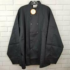 New Happy Chef Men's 3Xl Black Double Breasted Cook Restaurant Uniform Jacket