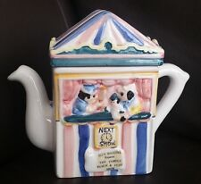 Regency Fine Arts Punch & Judy Collector's English Pottery Teapot By Guy Higgins