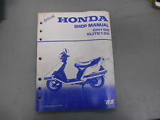 Honda 1985 CH150 Elite Factory Shop Manual 61KN700