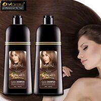 500ml Natural Argan oil Essence Instant Hair Dye Shampoo Permanent Hair Coloring