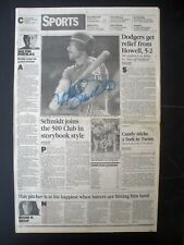 RARE MIKE SCHMIDT PHILLIES SIGNED AUTOGRAPHED 1985 VINTAGE ORIG 500 HR NEWSPAPER