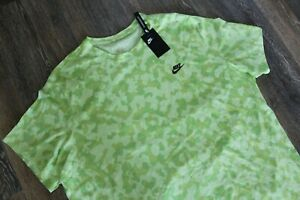 NWT NIKE Men's Dri-fit Big & Tall Camouflage Athletic T-Shirt Neon Green