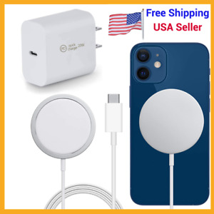 For iPhone 13 /12 Pro Max MagSafe Wireless Charger Magnetic Charge Pad + Adapter