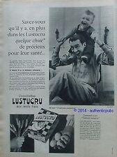 PUBLICITE LUSTUCRU PATES AUX OEUFS FRAIS COQUILLETTES DE 1960 FRENCH AD VINTAGE