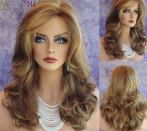 Fashion Long Wig Synthetic  Wigs Blonde Wig Cospaly Wig CurlyGive a jade bracele