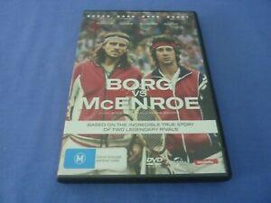 Borg Vs McEnroe DVD Sverrir Gudnason Shia LaBeouf R4 Free Postage