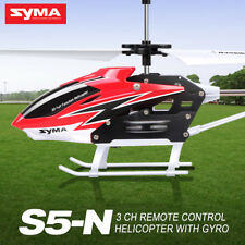 Mini Syma S5-N RC Helicopter Infrared Radio Control 3channel Gyro Anti Shock Red