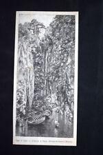 Lago di Como - L'Orrido di Nesso Incisione del 1882