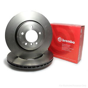 Genuine Brembo 5 Stud Front Vented Coated High Carbon Brake Discs - 09.A599.11
